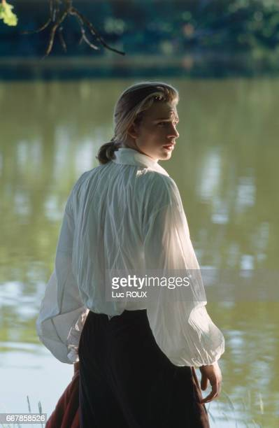 French actor Guillaume Depardieu on the set of the film Tous les Matins du Monde directed by Alain Corneau