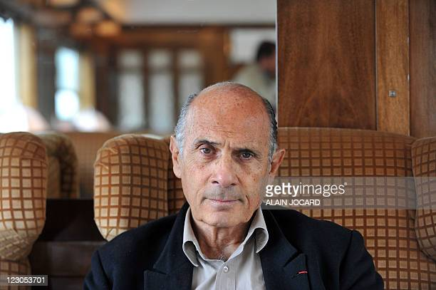 French actor Guy Marchand poses aboard the Orient Express train in Paris on August 28 2011 en route to the French central city of ChanceauprèsLoches...