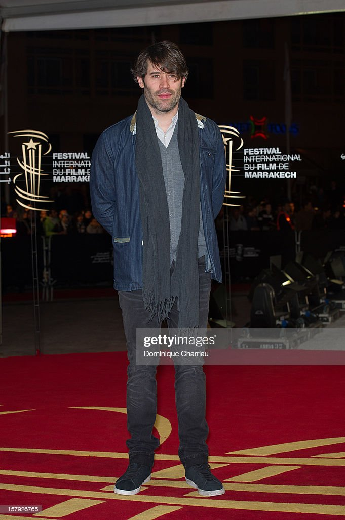 French actor Jalil Lesper poses as he arrives at the 'Ginger & Rosa' Premiere during the 12th International Marrakech Film Festival on December 7, 2012 in Marrakech, Morocco.