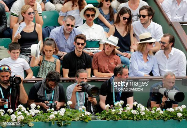 French actor Jalil Lespert FrenchRwandan actress Sonia Rolland French singer Vianney and his partner French cellist Catherine Robert French actor...