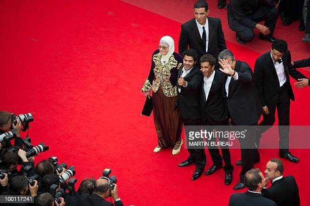 French actor Jamel Debbouze French director Rachid Bouchareb actress Chafia Boudraa French actor Roschdy Zem and French actor Sami Bouajila arrive...