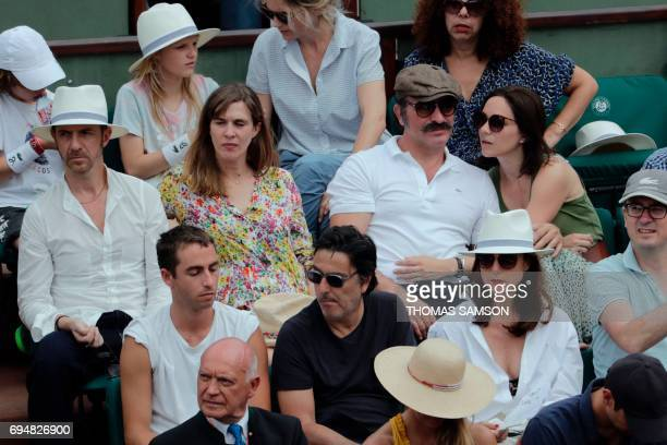 French actor Jean Dujardin and his partner former French figure skater Nathalie Pechalat French actor Yvan Attal and French actress Elsa Zylberstein...