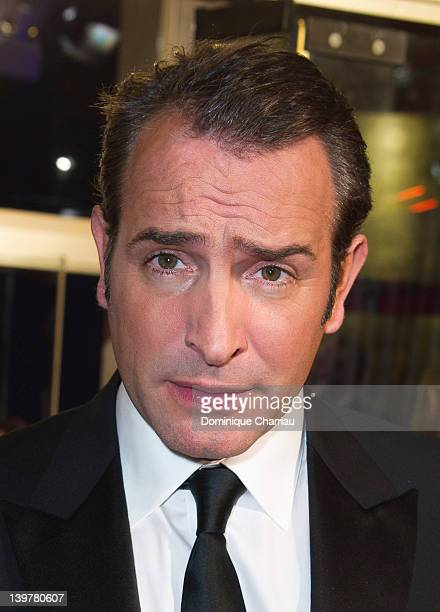 French actor Jean Dujardin attends the 37th Cesar Film Awards at Theatre du Chatelet on February 24 2012 in Paris France