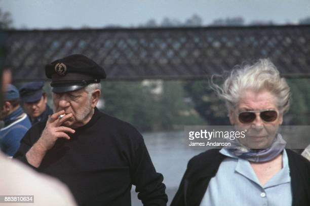 French actor Jean Gabin on the set of Le drapeau noir flotte sur la marmite, written and directed by Michel Audiard, 8th May 1971