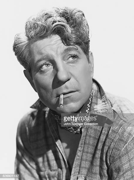 French Actor Jean Gabin Smoking a Cigarette