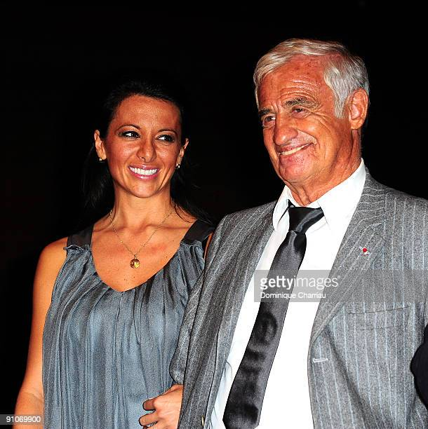 French Actor Jean Paul Belmondo and his girl friend Barbara Gandolfi attend Pierrot Le Fou Evening in La Cinematheque Francaise at Cinematheque...