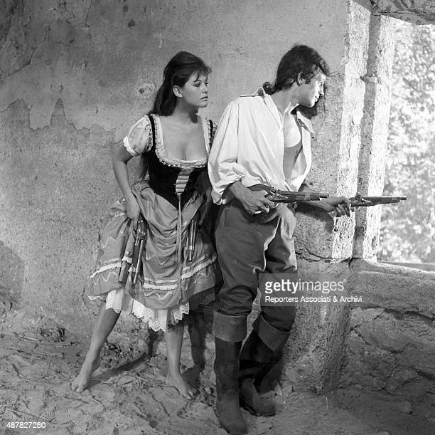 French actor Jean Paul Belmondo and Italian actress Claudia acting Cardinale in Cartouche France 1962