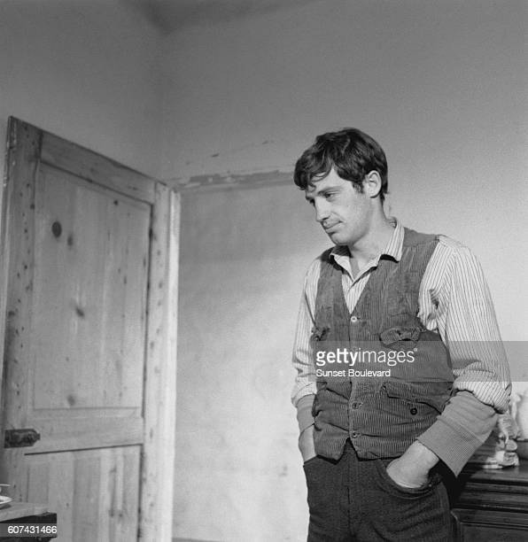 French actor Jean Paul Belmondo on the set of La Viaccia, based on the novel by Mario Pratesi and directed by Mauro Bolognini.