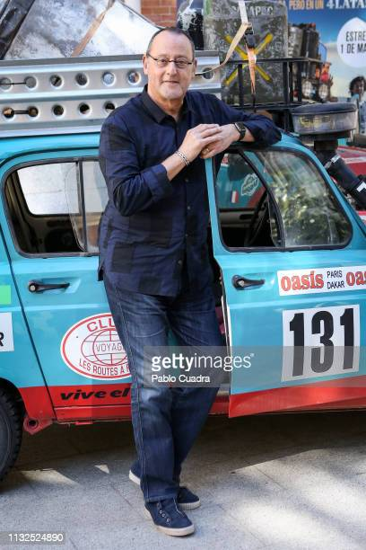 French actor Jean Reno attends the '4 Latas' photocall at Santo Mauro Hotel on February 27 2019 in Madrid Spain