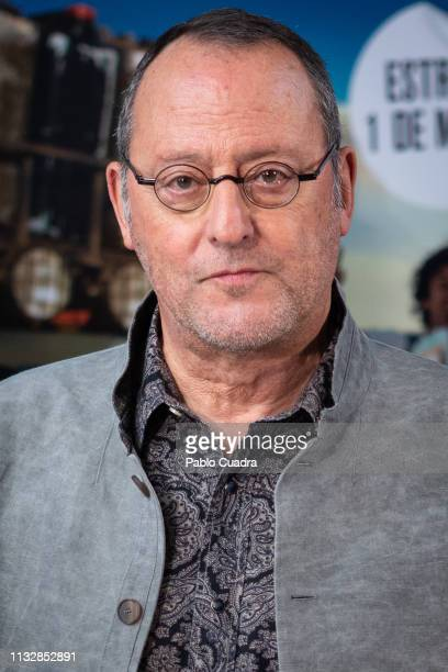 French actor Jean Reno attends the '4 Latas' premiere at Paz Cinema on February 28 2019 in Madrid Spain