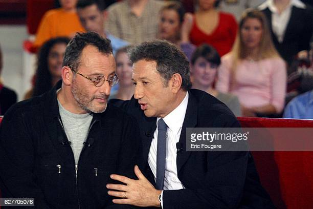 French actor Jean Reno invited for the release of the movie 'Jet Lag' on the set of the TV show 'Vivement Dimanche'