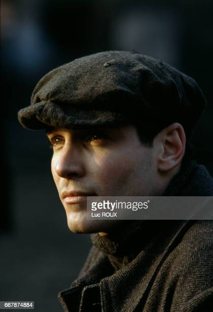 French actor JeanMarc Barr on the set of Le Brasier directed by Eric Barbier