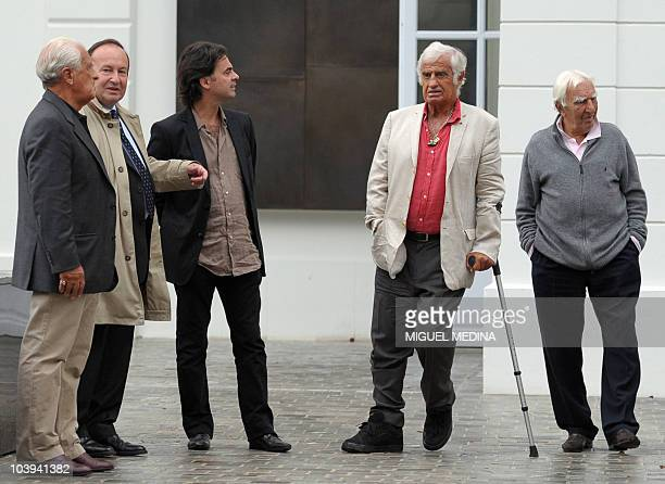 French actor JeanPaul Belmondo French actor Charles Gerard JeanPaul Belmondo's nephew Olivier Belmondo heritage chief curator and director of...