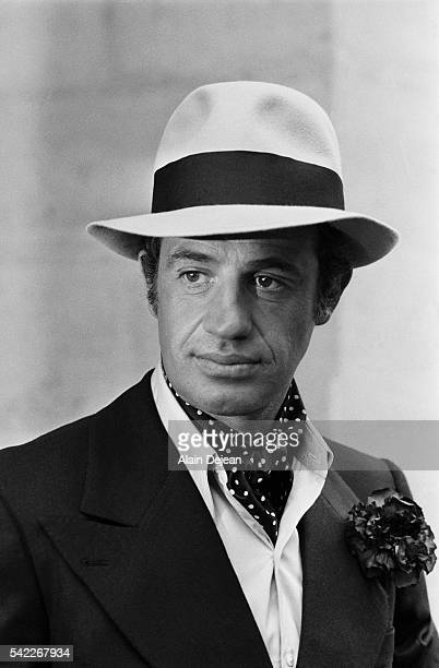 French actor JeanPaul Belmondo on the set of the 1974 film Stavisky