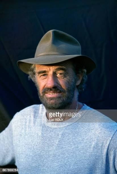 French actor JeanPaul Belmondo on the set of the film Itineraire d'un Enfant Gate directed by Claude Lelouch Belmondo won the 1989 Cesar award for...