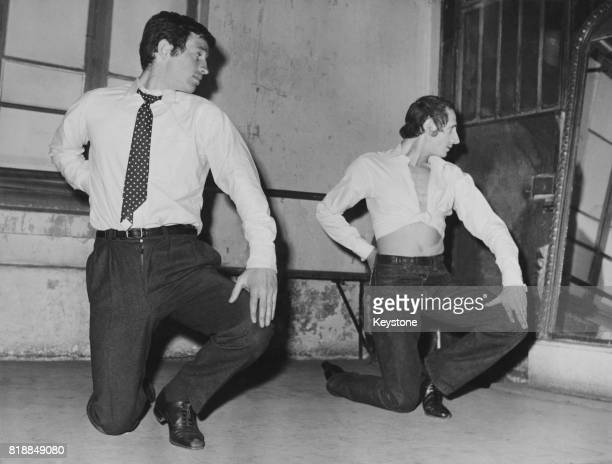 French actor JeanPaul Belmondo studies flamenco dancing under Lélé de Triana for his latest film 'Un Singe en Hiver' 29th December 1961