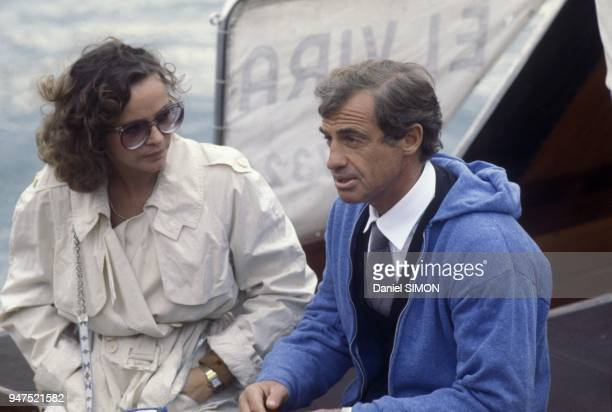 FRANCE French actor JeanPaul Belmondo with partner Italian actress Laura Antonelli in the seventies