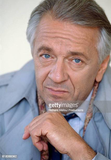 French actor JeanPierre Cassel poses in France He plays the role of Inspector Corelli in the 1990 French and British film Mister Frost directed by...