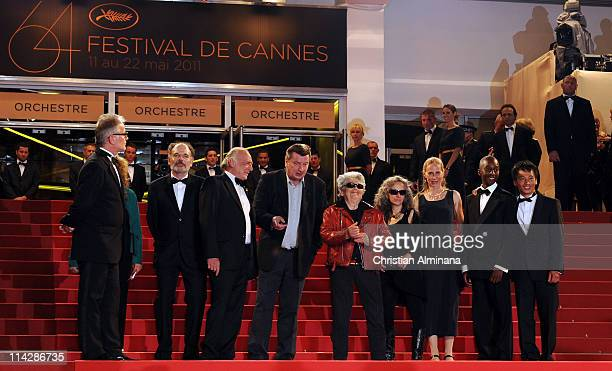 French actor JeanPierre Darroussin Blondin Miguel Director and writer Aki Kaurismaki actor Little Bob guest actress Kati Outinen guest and Quoc...
