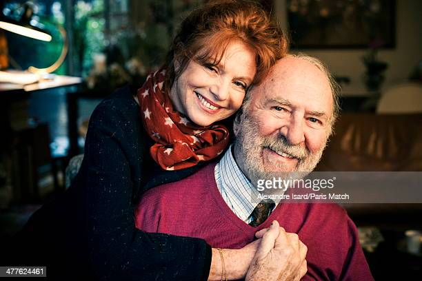 French actor JeanPierre Marielle and his wife Agathe Natanson are photographed for Paris Match on February 17 2014 in BoulogneBillancourt France