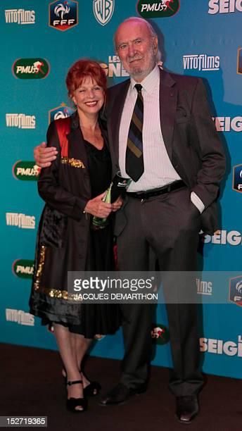 French actor JeanPierre Marielle and his wife Agathe Natanson on September 24 2012 in Paris during a photocall prior to the premiere screening of the...