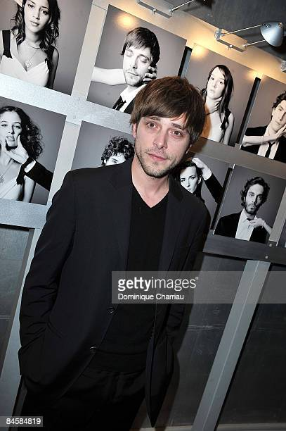 French Actor Julien Baumgartner attends Chaumet's Cocktail Party and Dinner for Cesar's Revelations 2009 on January 20 2009 in Paris France
