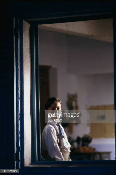 French actor Julien Ciamaca on the set of the film La Gloire de Mon Pere directed by Yves Robert
