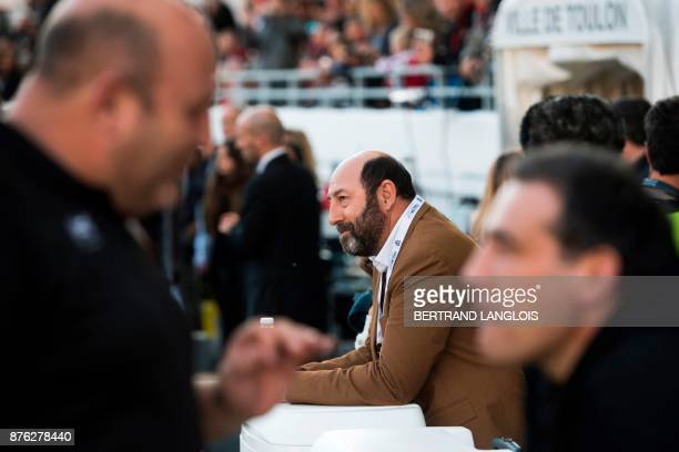 French actor Kad Merad attends the French Top 14 rugby union match RC Toulon vs Racing 92 on November 19, 2017 at the Mayol stadium in Toulon,...