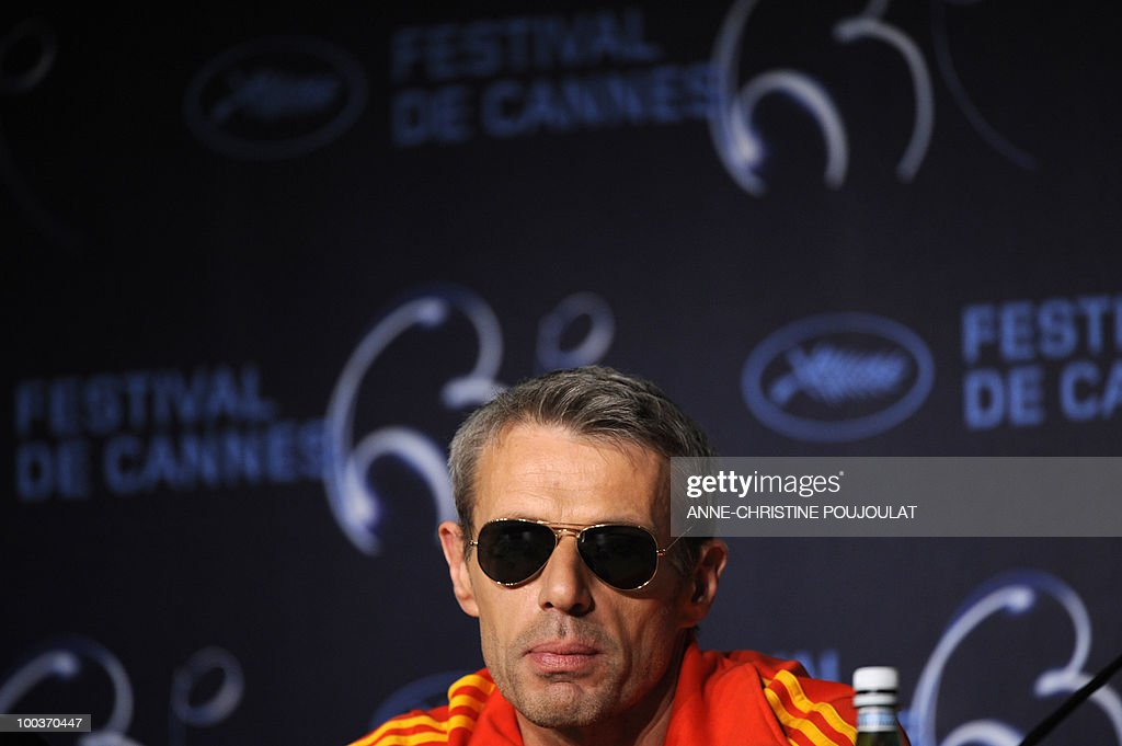 French actor Lambert Wilson attends the press conference of 'Des Hommes et des Dieux' (Of God and Men) presented in competition at the 63rd Cannes Film Festival on May 18, 2010 in Cannes.