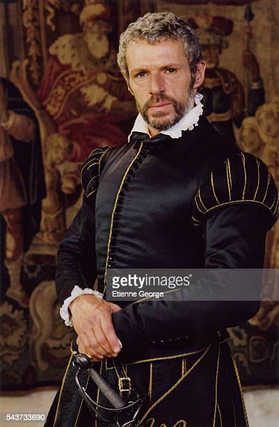 French actor Lambert Wilson on the set of La Princesse de Montpensier written and directed by Bertrand Tavernier.