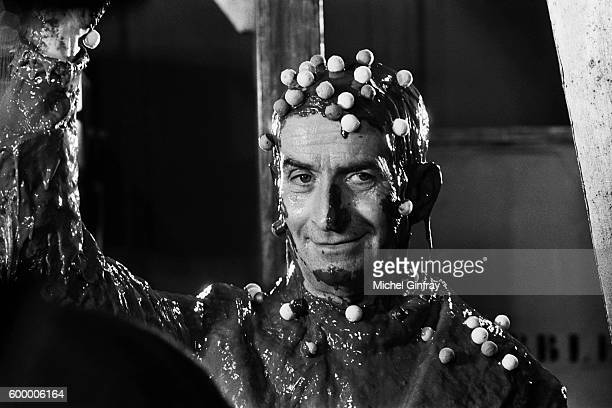 French actor Louis de Funes on the set of Les Aventures de Rabbi Jacob written and directed by Gerard Oury