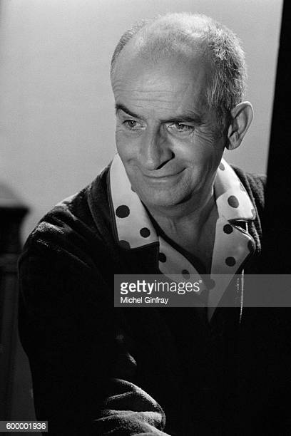 French actor Louis de Funes on the set of L'Homme Orchestre written and directed by Serge Korber