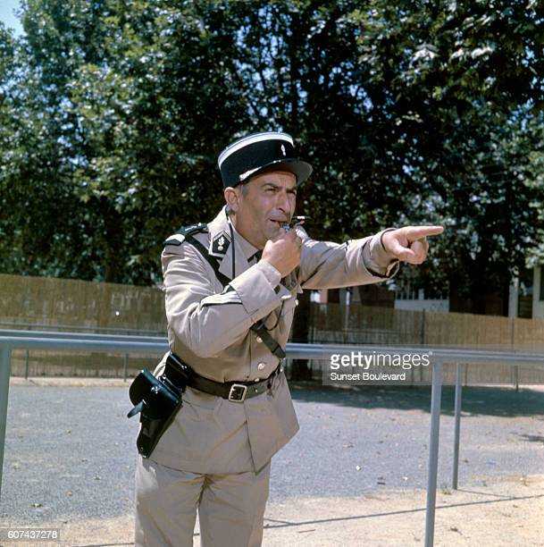 French actor Louis de Funès on the set of Le Gendarme de SaintTropez written and directed by Jean Girault