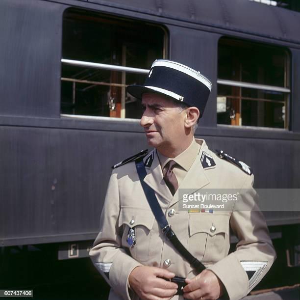French actor Louis de Funès on the set of Le Gendarme de SaintTropez written and directed by Jean Girault