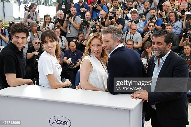 French actor Louis Garrel, French actress and director Maiwenn, French actress Emmanuelle Bercot, French actor Vincent Cassel and French producer...