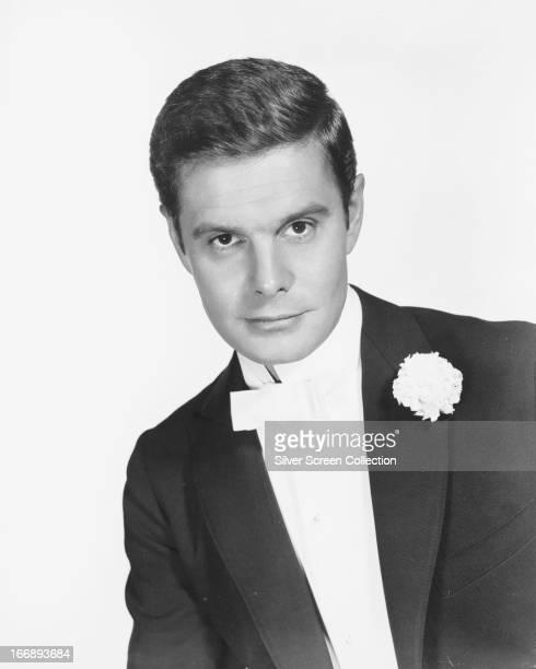 French actor Louis Jourdan wearing a tuxedo circa 1950