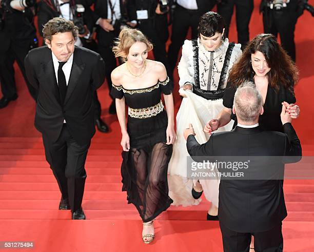 French actor LouisDo de Lencquesaing FrenchUS actress LilyRose Depp French actress and singer Stephanie Sokolinski aka Soko and French director...