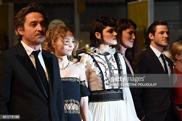 French actor LouisDo de Lencquesaing FrenchUS actress LilyRose Depp French actress and singer Stephanie Sokolinski aka Soko French director Stephanie...