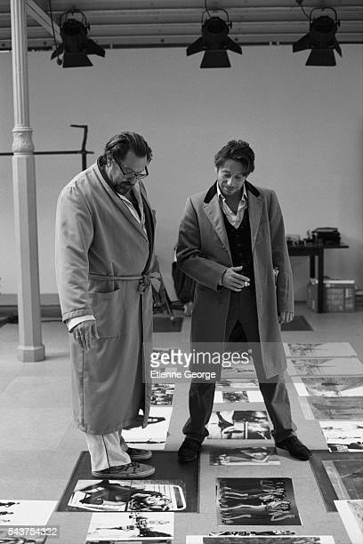 French actor Mathieu Amalric on the set of the film Le Scaphandre et le Papillon directed by American artist painter and director Julian Schnabel and...