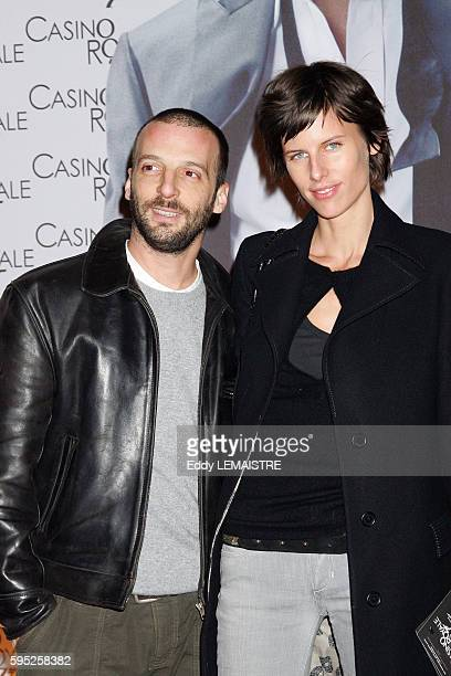 French actor Mathieu Kassovitz and model Aurore Lagache attend the premiere of movie Casino Royale in Paris