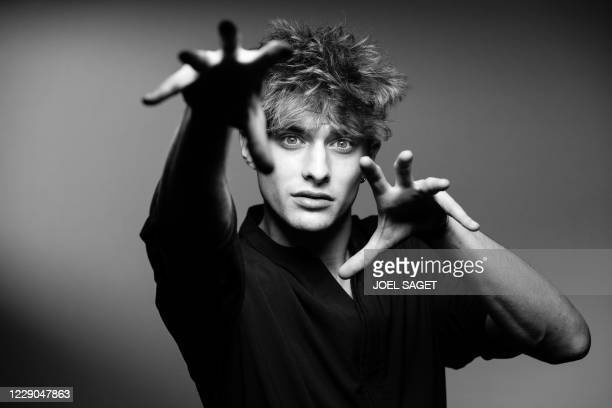 French actor Maxence Danet-Fauvel poses for a photo session during the 3rd edition of the Cannes International Series Festival in Cannes, southern...