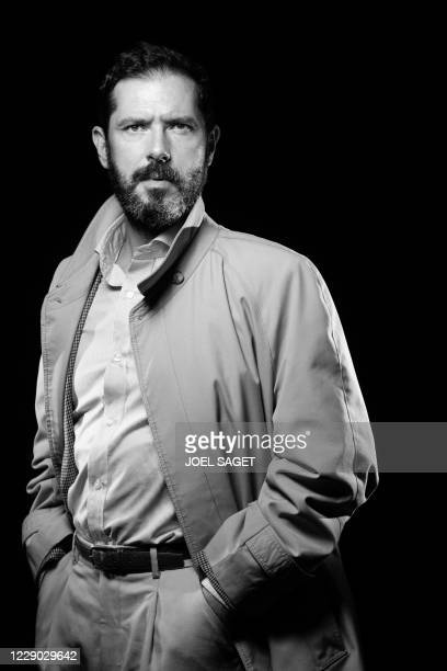 French actor Melvil Poupaud poses for a photo session during the 3rd edition of the Cannes International Series Festival in Cannes, southern France,...