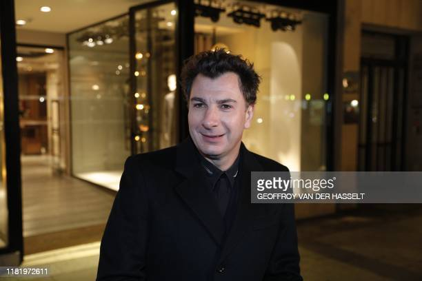 French actor Michael Youn arrives on the Champs Elysees in Paris on November 12 2019 at the screening of Polanski's last movie J'accuse Interviews to...
