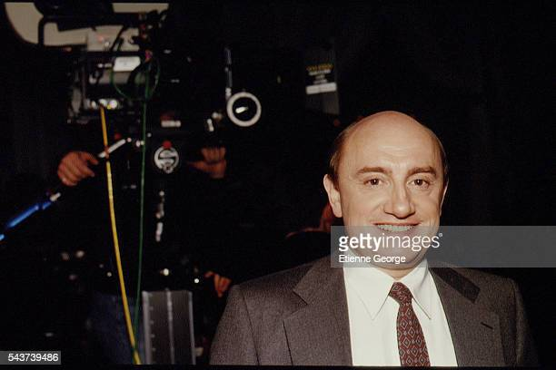French actor Michel Blanc on the set of the film PrêtàPorter directed by American director Robert Altman