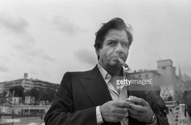 French actor Michel Galabru poses on May 17, 1977 during the Cannes International Film Festival. AFP PHOTO