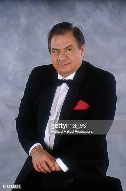 French actor Michel Galabru wears a tuxedo