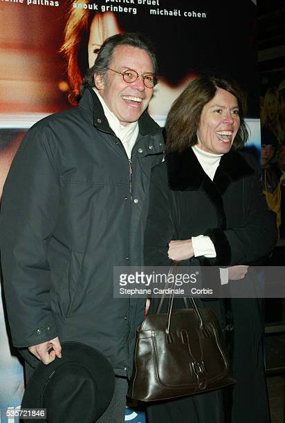 French actor Michel Leeb and his wife attend the premiere of 'Une Vie à T'Attendre'