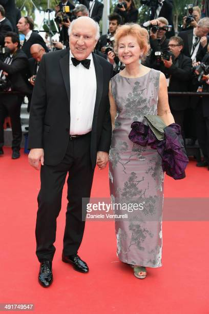 French actor Michel Piccoli and Ludivine Clerc attend the Saint Laurent Premiere at the 67th Annual Cannes Film Festival on May 17 2014 in Cannes...