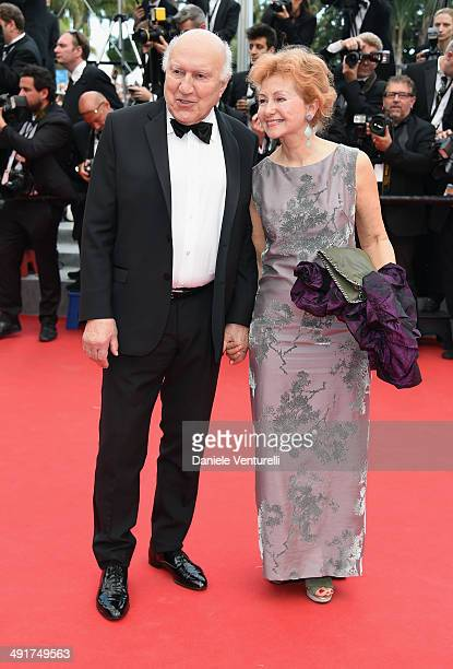 """French actor Michel Piccoli and Ludivine Clerc attend the """"Saint Laurent"""" Premiere at the 67th Annual Cannes Film Festival on May 17, 2014 in Cannes,..."""