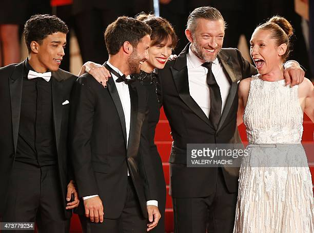 French actor Nabil Kechouhen, French actor Abdel Addala, French actress and director Maiwenn, French actor Vincent Cassel and French actress...